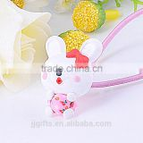 hair wrap polymer style clay lovely bowknot rabbit Topknot