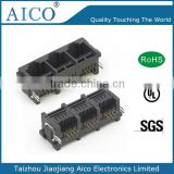 china supplier top quality pcb mounting 90 degree 8 Pin 1x3 plastic rj45 ethernet connector
