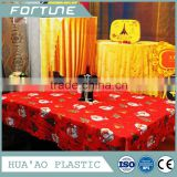 2016 HOT SALE PVC WATERPROOF CHRISTMAS COLORING TABLECLOTH ROLL PLASTIC PRINTED SHEET COVERS ROLL