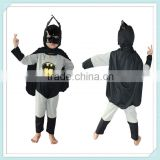 Halloween Party Grey Bat man Character Costume Children Kids Long Sleeves Cosplay Clothing Cosplay Bat man Costume For Children
