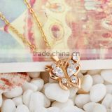 2014 fashion gold butterfly chains pendant necklace(AM-D0387)