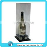 wholesale acrylic bowling pin display case ,custom display box for collectible champagne bottles bowling pins
