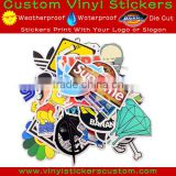 China cheap waterproof pvc cartoon laptop skin personalized bike decal print kiss die cut motorcycle helmet vinyl custom sticker