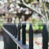 China supplier ornamental zinc coated steel fence / powder coated wrought iron school fence design