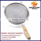 Healthy master class dumpling sieves french fries baskets with handles stainless steel cooking spider strainer baskets