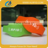 LF TK4100 Silicone rfid bracelet tag,waterproof swimming Wristbands for water parks/theme parks