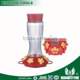 WG0213 887ml plastic bird feeder with yellow flower feeding stations