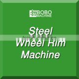 Steel wheel rim manufacturing machine for tubeless car wheel and tractor wheel making.
