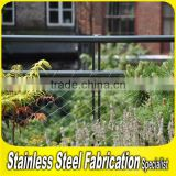 Fabrication Project Stainless Steel Balcony Wire Mesh Deck Railing