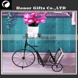 Fashion Design Wrought Iron Bicycle Plant Stand Decoration Bicycle Flower Stand