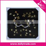80*80CM Yiwu Dolly Shadow Box Frames Wholesale 3D Buterfly Gold Foil Picture Wall Decorative Art