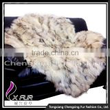 CX-D-84 Wholesale Custom Real Raccoon Fur Area Carpet Rugs
