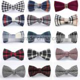 2015 Gentleman Wedding Party Tuxedo Bright Color Mens Bow Ties Pre-tied Adjustable Red Black Stripes Tartan Free Shipping