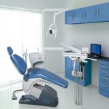 Economic type dental chair with LED operation lamp