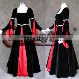 Custom Made Gothic Medieval Renaissance Ball Gown Dress Costume Halloween Carnival Party Costume