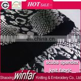 Winfar Textile Knit New Design 94% Polyester 6% Spandex Silver Foil Printed Scuba Dress Fabric for Women