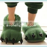 customize high quality plush animals slipper