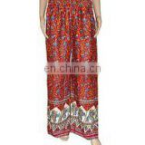 Indian Elephant Leaf Print Palazzo pants Yoga palazzo Harem Pants Baggy pants Multi Gypsy boho Hippie Unisex Trousers