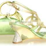 2014 latest desgn matching green shoes and bags