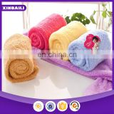 wholesale custom microfiber velvet bath towel with batton