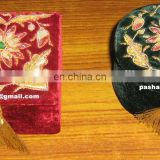 Home Decorative Hand Carved Zari Embroidery Box