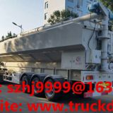 customized CLW brand 3 axles 57cbm bulk feed body tank semitrailer for sale