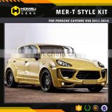 perfect fitment auto facelift fiber glass material MER-T body kit for cayenne 958 2011-2014