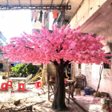 5meter height large fiberglass trunk artificial cherry tree