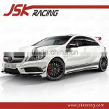 OEM STYLE CARBON FIBER SIDE SKIRTS INSERT FOR MERCEDES BENZ A-CLASS W176 A45 AMG(JSK061003)