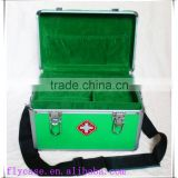 first aid case for health care products carrying with aluminum frame