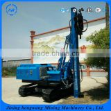 Max 6.5m Piling Depth Mini Mobile Pile Drilling Rig/Hydraulic Pile Driver For Installing Steel Concrete Posts