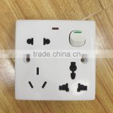 Bangladesh type Bangladesh market hot sell 8 pin wall socket with led light                                                                                                         Supplier's Choice
