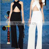 Hot selling sexy Jumpsuit, Custom ladies strap jumpsuits for women 2016