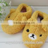 plush teddy bear slippers /soft children slippers