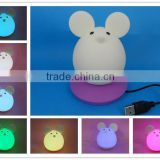 2015 new item Portable silicone soft baby night light