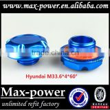 Brand new Suitable for Hyundai M33.6*4*60 aluninum Gredd* car auto fuel tank cap cover MP-CAP-02 blue