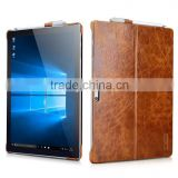 Icarer Vintage Series Anti Shock Luxury Genuine Leather Back Protective Case for Surface Pro 4 MT-5658