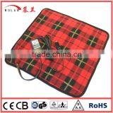 12 Volt polar fleece Electric Plaid Car Heated seat mat for Automobiles with Cigarette Lighter