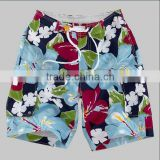 oil panting liked Men's fashion beach shorts,beautiful print fabric,colorful board shorts