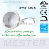 25w 8inch high brightness cost effective led commercial downlight,led recessed lighting can