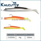 CHZ5303 Pre-rigged soft fishing lures shad bait for bass trout fishing saltwater fishing