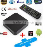 MXQ Amlogic S805 XBMC Media Player Quad Core Arabic Magic Android 4.4 Smart TV BOX H.265 4K 1080p 1G 8G Media IPTV TV Box