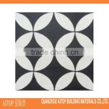 Black & white cement material flooring carpet tile china cheap price cement body tile fashion design floor tile cement tile
