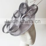 Silver fascinator hats/Derby fascinator/Racing fascinator/Kentucky fascinator/fascinator wholesale
