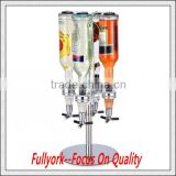 Carousel Wine Alcohol Liquor Cocktail Shot Dispenser 4 Bottle Rotating Bar Butler