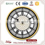High-end crafts mdf personalized custom pattern center vintage wall clock for restaurant