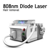 Portable mini Strong Power!!! 808nm Diode Laser Hair Removal Machine With CE Approved / Real Advanced
