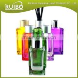 Hot sale 50ml 80ml 100ml 200ml cubic reed diffuser bottles with diffuser reeds and aluminum caps