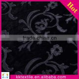High quality PU leather floral applique embroidery african velvet lace fabric for lady garment