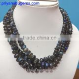 "Labradorite Smooth Rondelle Beads Full Flash plane beads 100 % NATURAL gemstones 16"" L/strand"